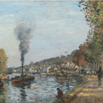 LOT 38 PROPERTY FROM AN IMPORTANT PRIVATE SWISS COLLECTION CAMILLE PISSARRO 1830-1903 LA SEINE À BOUGIVAL signed C. Pissarro and dated 1871 (lower right) oil on canvas 43.5 by 59.7cm. 17 1/4 by 23 1/2 in. Painted in 1871. Estimate 1,400,000 — 1,800,000 GBP Price realized:
