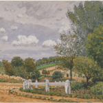 LOT 42 ALFRED SISLEY 1839 - 1899 LA ROUTE DE VERRIÈRES signed Sisley and dated '72 (lower right) oil on canvas 46 by 61cm. 18 1/8 by 24in. Painted in 1872. Estimate 800,000 — 1,200,000 GBP Price realized: