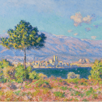 LOT 8 PROPERTY FROM THE COLLECTION OF RALPH C. WILSON, JR. CLAUDE MONET 1840 - 1926 ANTIBES, VUE DU PLATEAU NOTRE-DAME signed Claude Monet and dated 88 (lower right) oil on canvas 65.1 by 92.1cm. 25 5/8 by 36 3/8 in. Painted in 1888. Estimate 6,000,000 — 8,000,000 GBP Price realized: