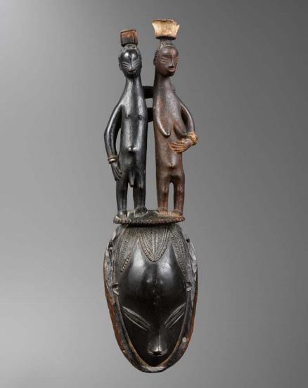 Maitre de Bouaflé, Masque Gouro, proveniente dalla Costa d'Avorio. Appartenuta ad André Breton e successivamente a Charles Ratton. Venduta per € 1,375,000