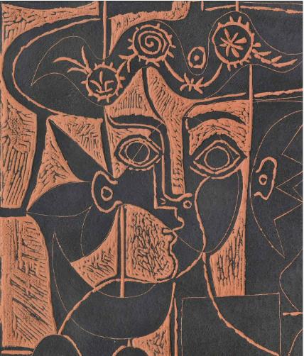 PABLO PICASSO (1881-1973) GRANDE TÊTE DE FEMME AU CHAPEAU ORNÉ (A.R. 518)