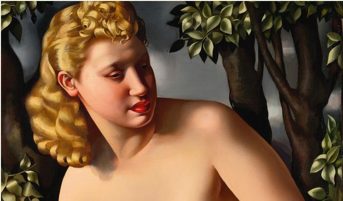 Tamara de Lempicka, Suzanne au bain (particolare)