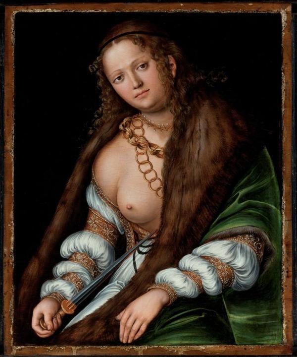 Lucas Cranach il Vecchio, Lucrezia. 1509 circa