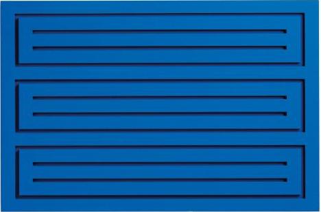 Donald Judd, Untitled, wood block blue, 1991, estimate: $20,000-30,000