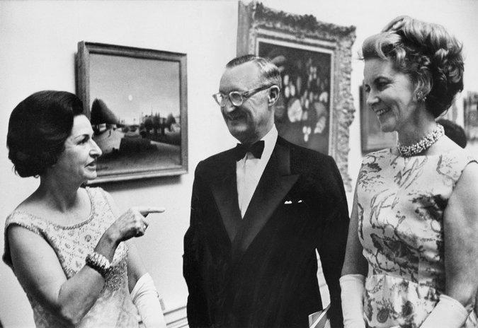Da sinistra, Lady Bird Johnson con Mr. e Mrs. Mellon alla National Gallery of Art
