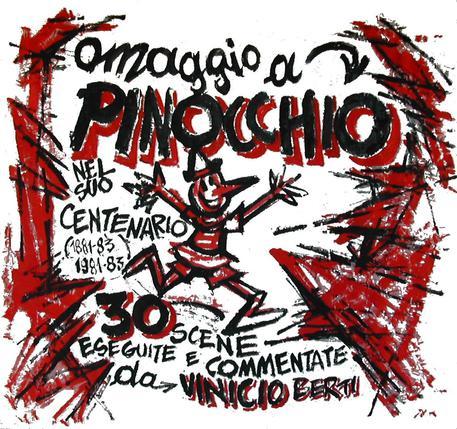 Al Parco di Pinocchio, a Collodi, Vinicio Berti reinterpreta Pinocchio