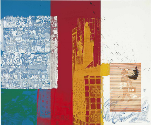 ROBERT RAUSCHENBERG (1925-2008) CONTINENTAL SPLASH (URBAN BOURBON SERIES)
