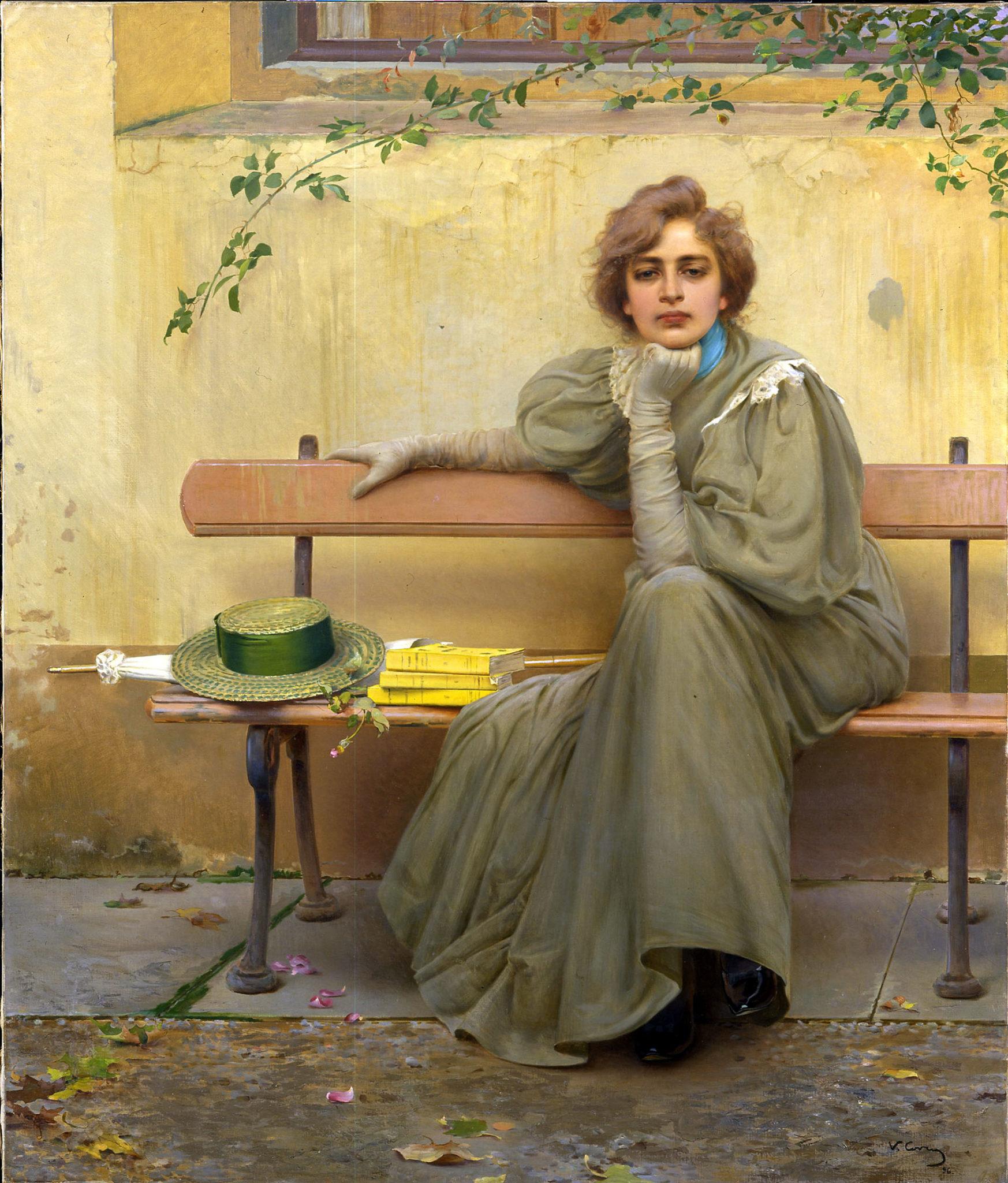 Corcos, Sogni, 1896, Galleria Nazionale d'Arte Moderna e Contemporanea di Roma