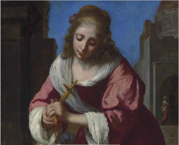JOHANNES VERMEER (DELFT 1632-1675) SAINT PRAXEDIS