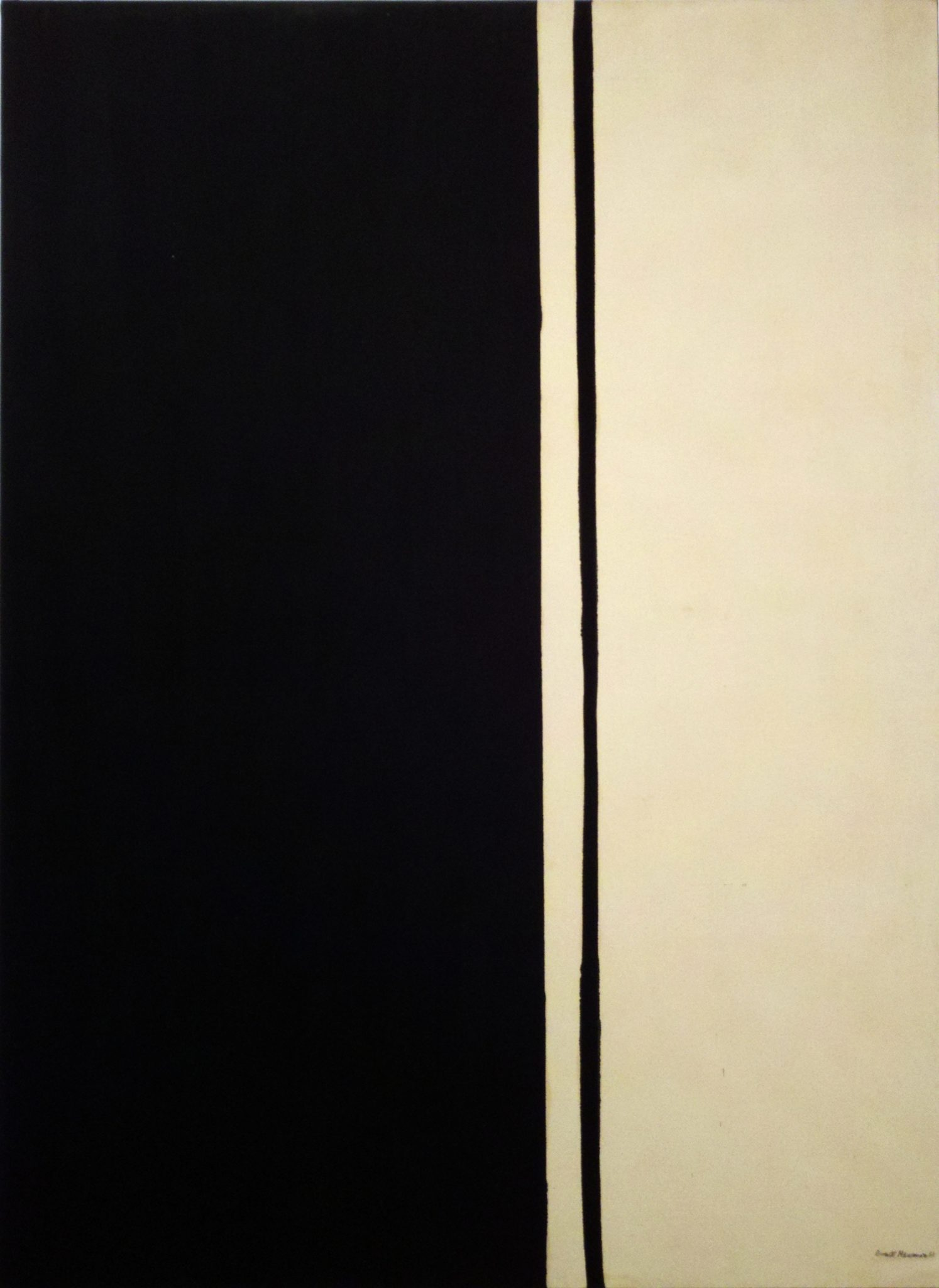 Barnett Newman (1905-1970) Black Fire I oil on canvas 114 x 84 in. (289.5 x 213.3 cm.) ESTIMATE Estimate on request PRICE REALIZED $84,165,000