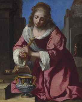 JOHANNES VERMEER (DELFT 1632-1675) SAINT PRAXEDIS Estimate £6,000,000 – £8,000,000 ($10,284,000 - $13,712,000)