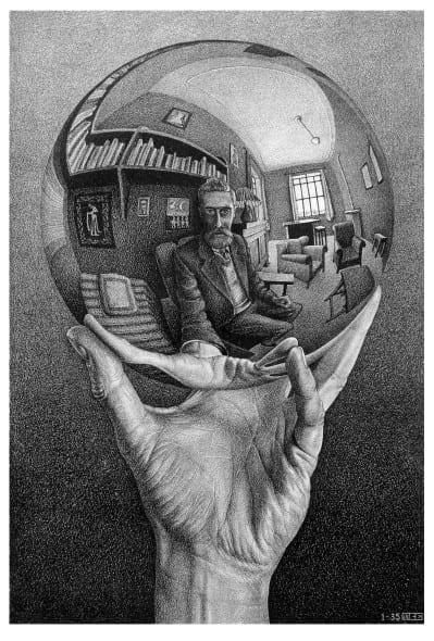Maurits Cornelis Escher, Mano con sfera riflettente,