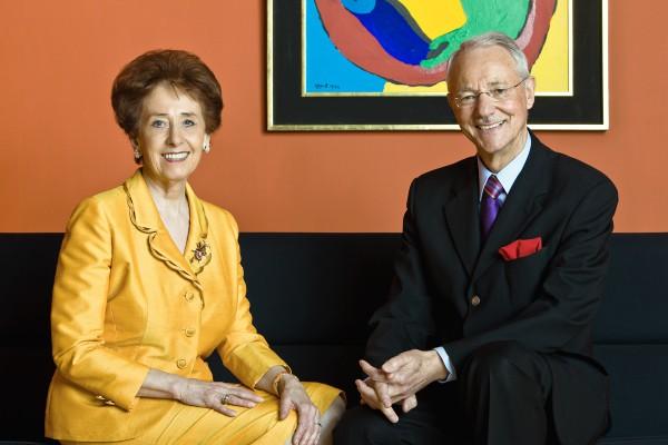Karlheinz Essl con la moglie.