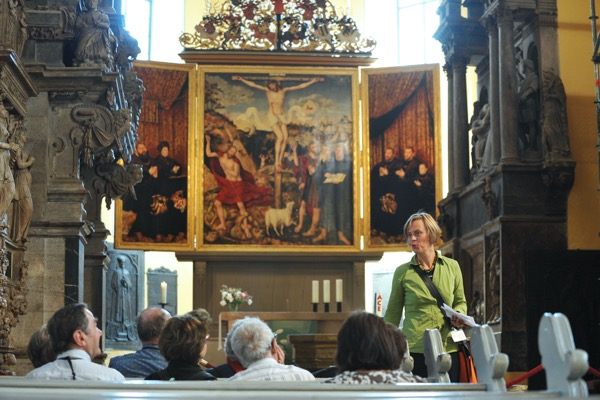 Restaurato, torna visibile in Germania l'Altare dei Cranach