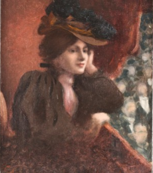 Lady in the Theater Box by an unknown artist led to the identification of the six other artworks as Nazi looted art.
