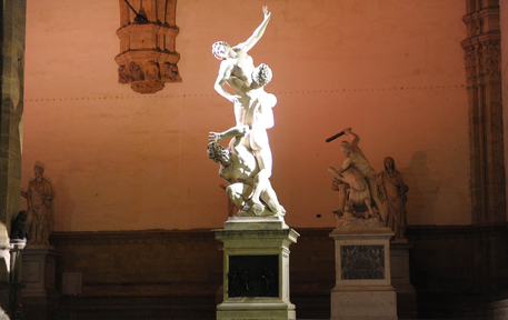 Ratto delle Sabine Loggia Lanzi Firenze