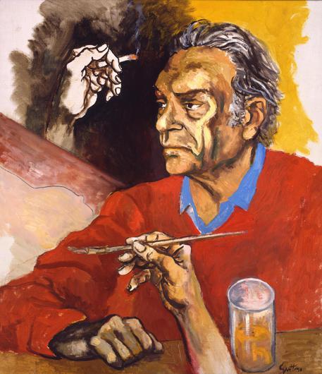 Renato Guttuso, Autoritratto. 1975