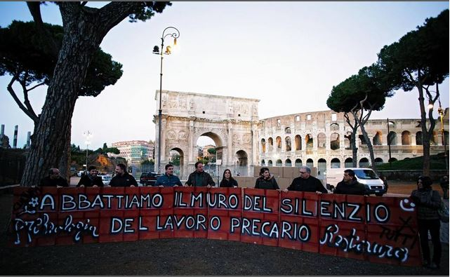 Flash Mob contro il precariato a Roma