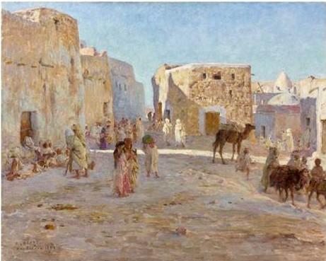 Etienne Dinet, Une place à Bou-Saâda
