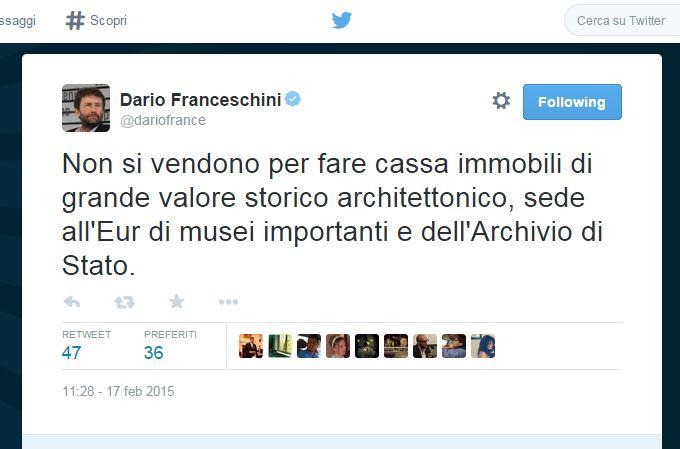 Dario Franceschini su Twitter