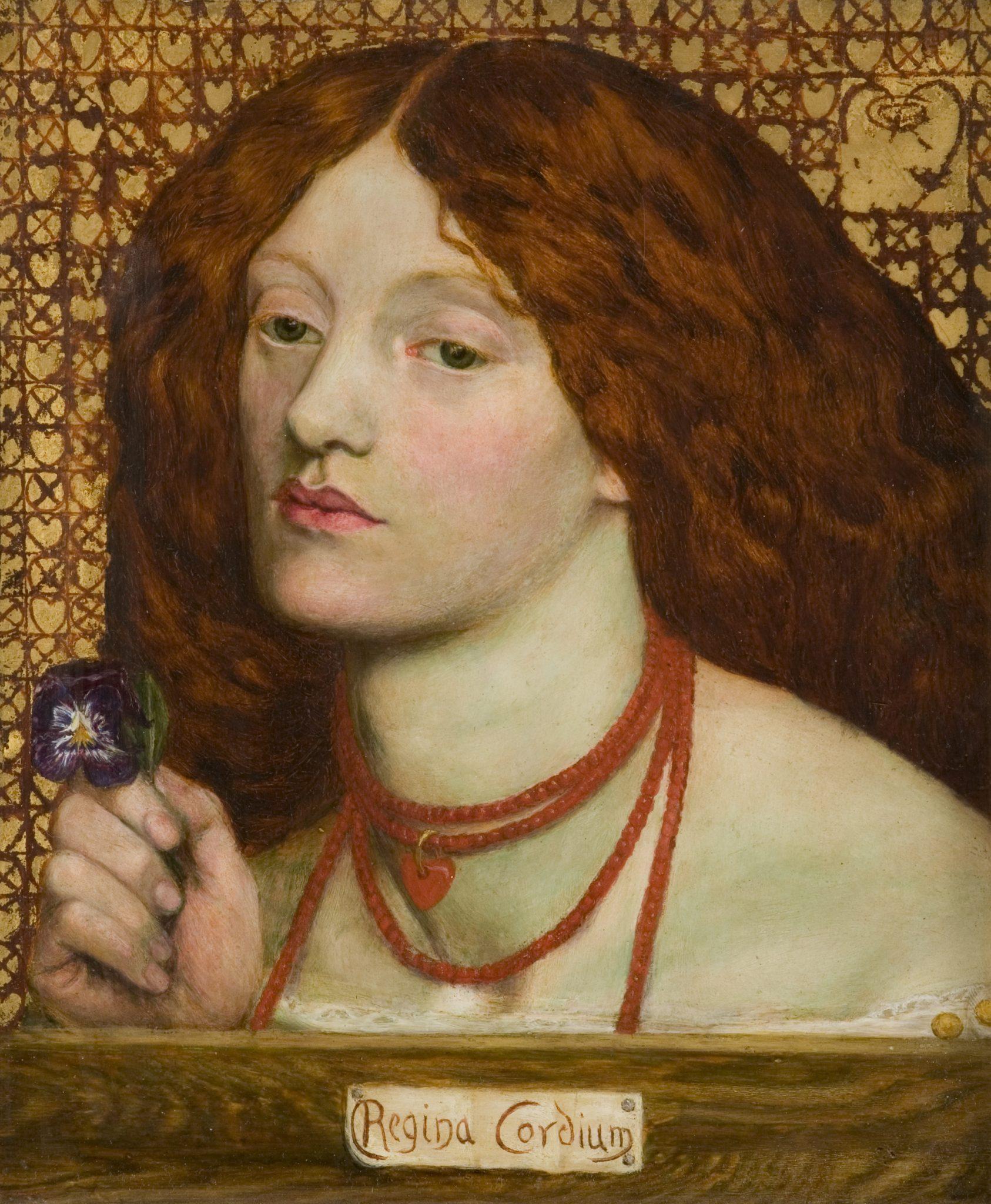 Dante Gabriel Rossetti Regina Cordium, 1860 Olio su tela, cm 25,4 x 20,3 Johannesburg Art Gallery, Johannesburg
