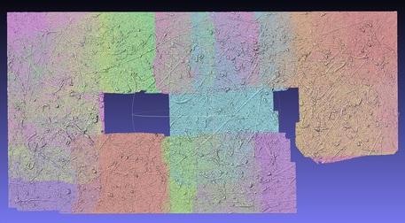 """Modello 3D della tela """"Alchemy"""" di Pollock"""