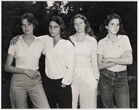 Nicholas Nixon, The Brown Sisters, 1975, New Canaan, Coon.