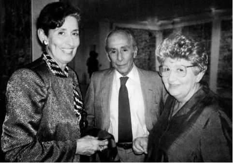 Nina Castelli Sundell con i genitori Ileana Sonnabend e Leo Castelli