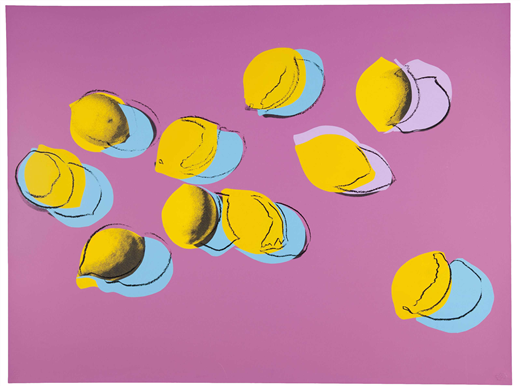 ANDY WARHOL (1928-1987) Space Fruit: Lemons (See F. & S. II.196) Screenprint in colors on paper 30 x 40 in. Executed in 1978. Starting Bid: $18,000