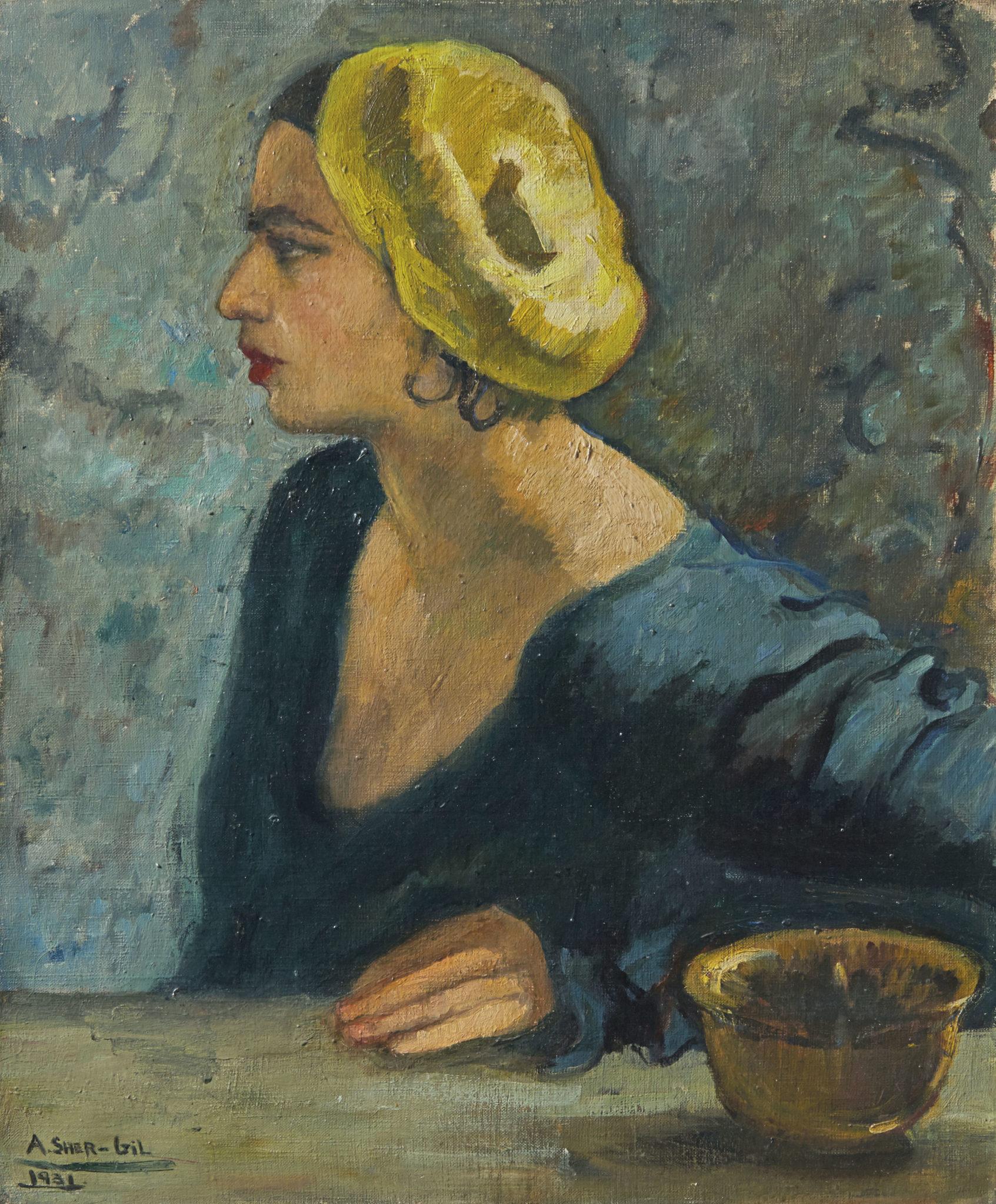 Amrita Sher-Gil. L'unico Autoritratto di profilo da Christie's