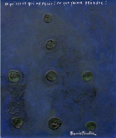 Francis Picabia, Points, 1951, huile sur toile (estimation : 120 000 - 180 000 € / 130 000 – 195 000 $).