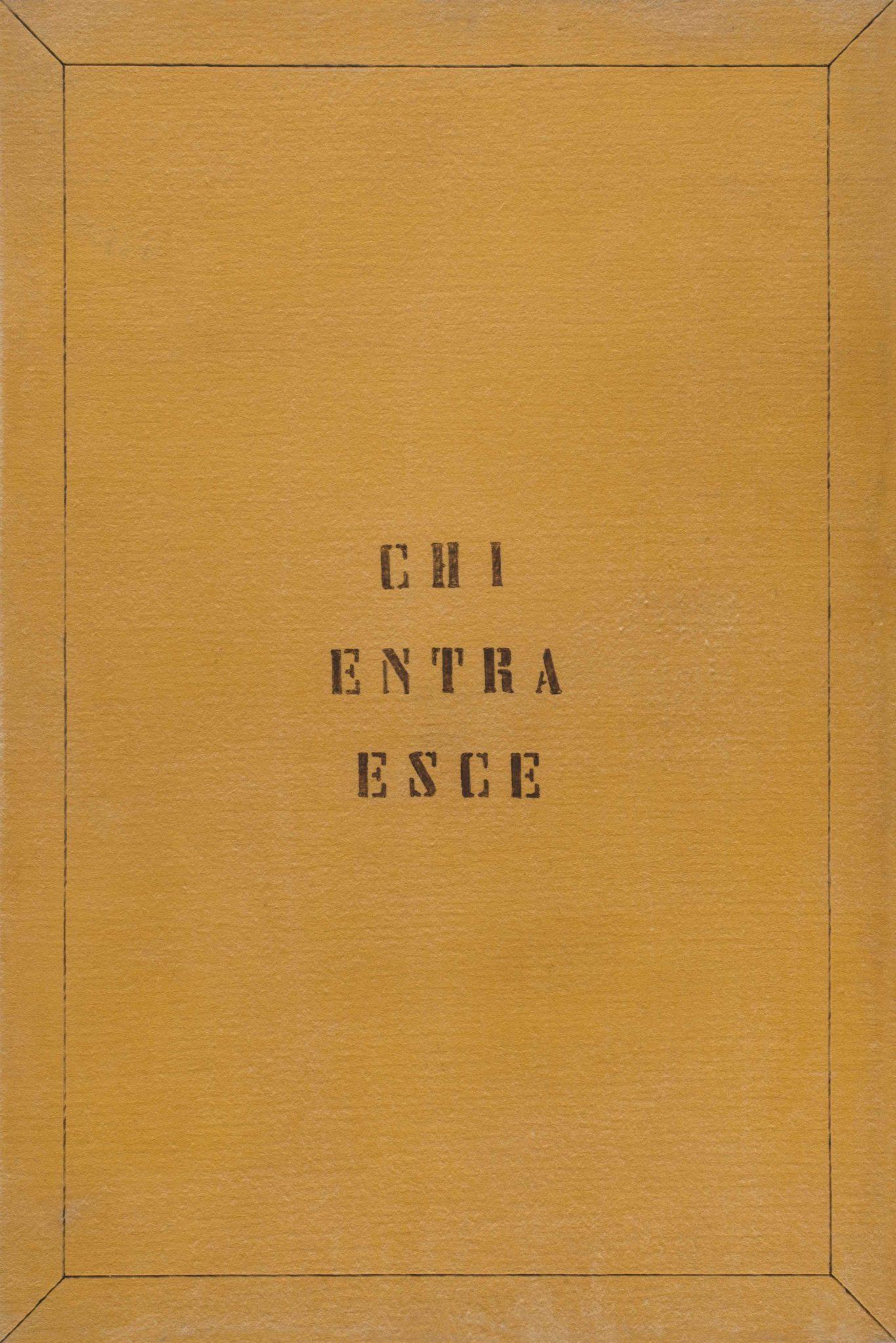 V. Agnetti, Chi entra esce, 1970-71, feltro, 120x80 cm