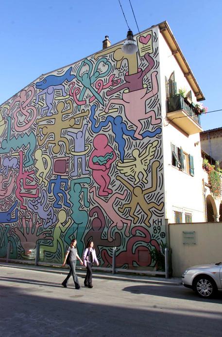 Tuttomondo, murale di Keith Haring a Pisa
