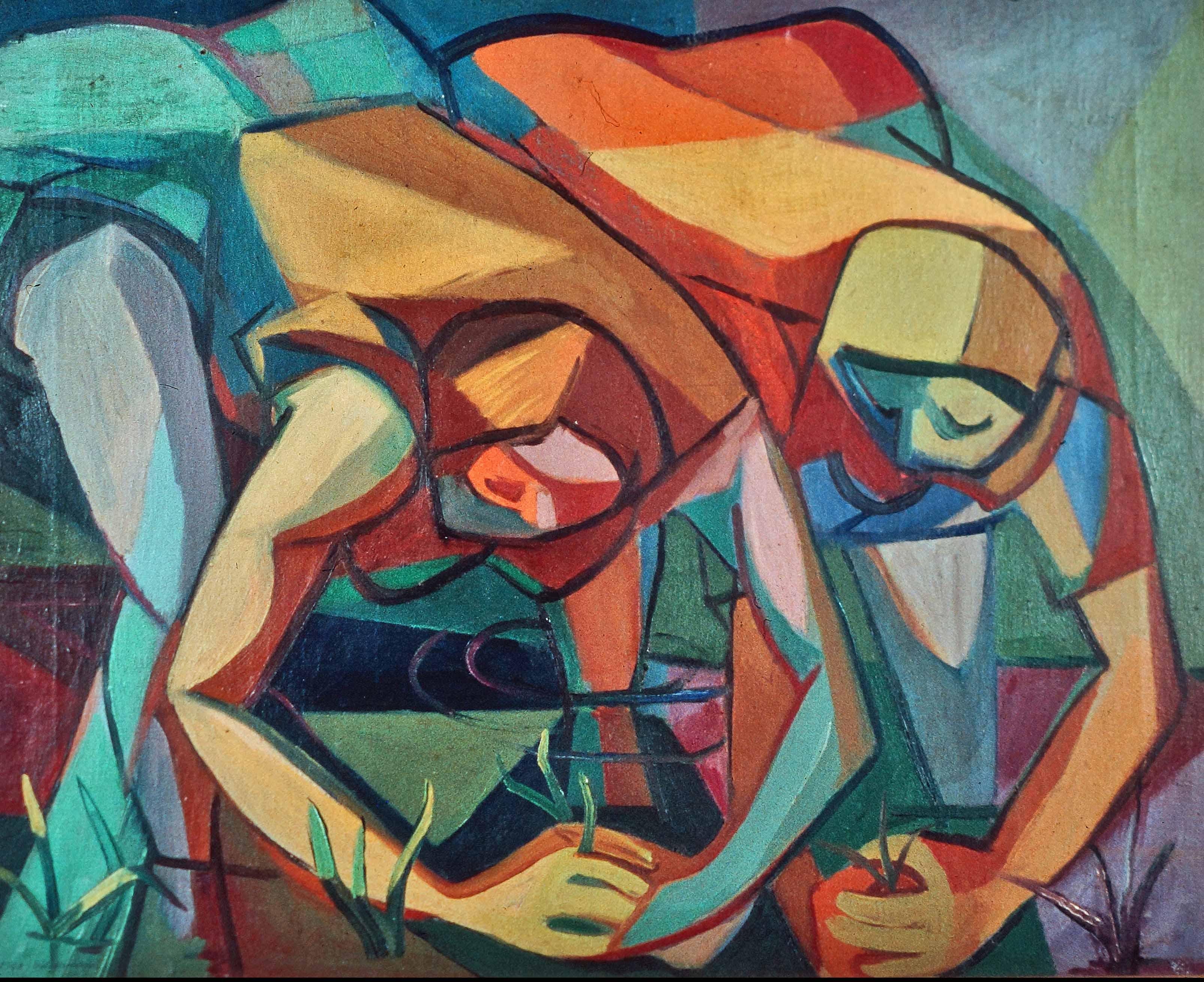 Aldo Borgonzoni Le mondine 1948 Olio su tela, cm 52,8 x 67 Suzzara (Mantova), Galleria del Premio Suzzara