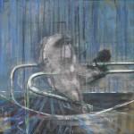 Galerie Gmurzynska, Francis Bacon, Untitled (Crouching Nude on Rail), 1952