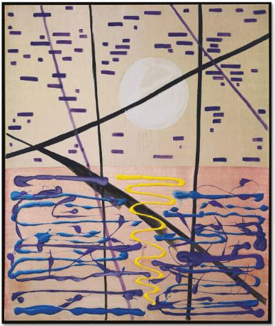 SIGMAR POLKE (1941-2010) MONDLANDSCHAFT MIT SCHILF (MOONLIT LANDSCAPE WITH REEDS)