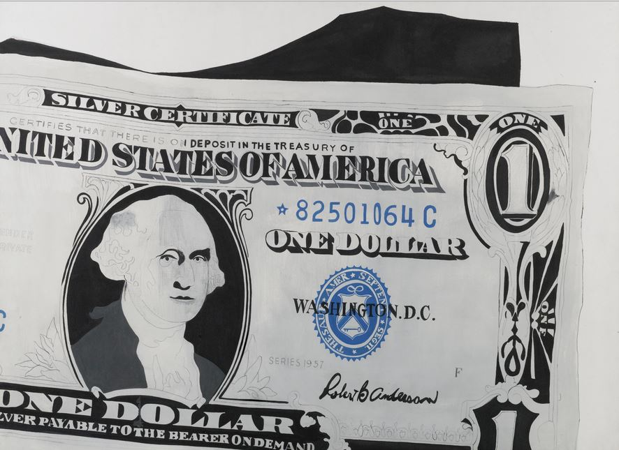 ArtsLife, TO THE BEARER ON DEMAND: AN IMPORTANT PRIVATE EUROPEAN COLLECTION Andy Warhol ONE DOLLAR BILL (SILVER CERTIFICATE) Estimate 13,000,000 — 18,000,000 GBP