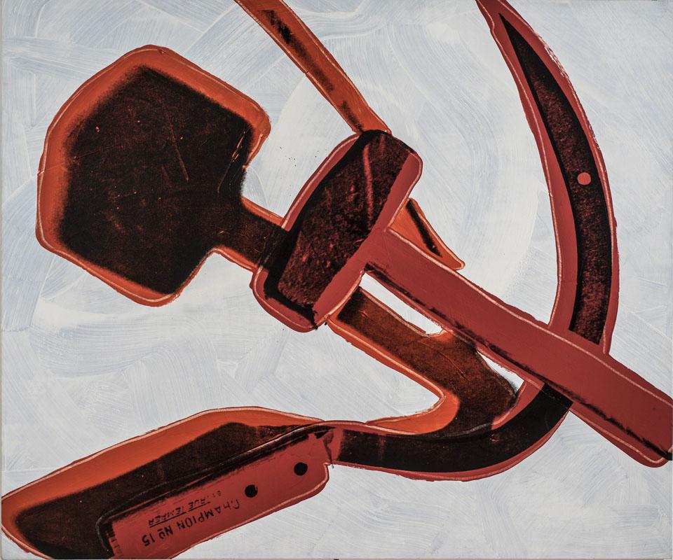 Andy Warhol Hammer and Sickle (Falce e martello) (1977) pittura a polimeri sintetici e serigrafia su tela; 182,9 x 218,4 cm Roma, Galleria Nazionale d'Arte Moderna e Contemporanea