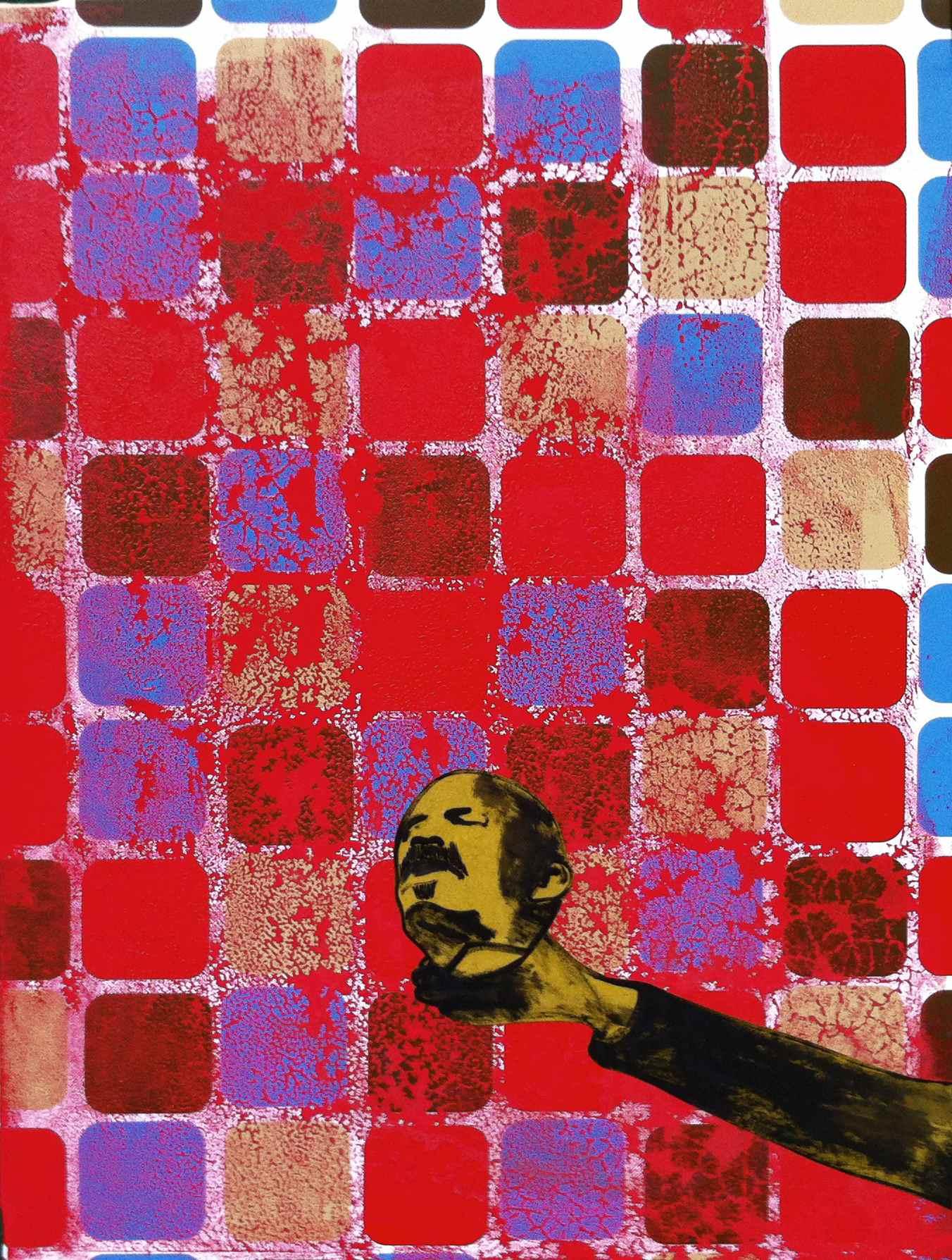 Michael Rotondi, Lenin's death, 2013, mixed media on canvas, 80x60cm