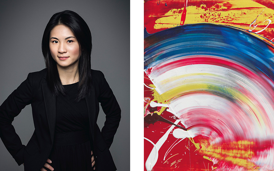 Han-I Wang e l'opera di Shiraga all'asta da Christie's