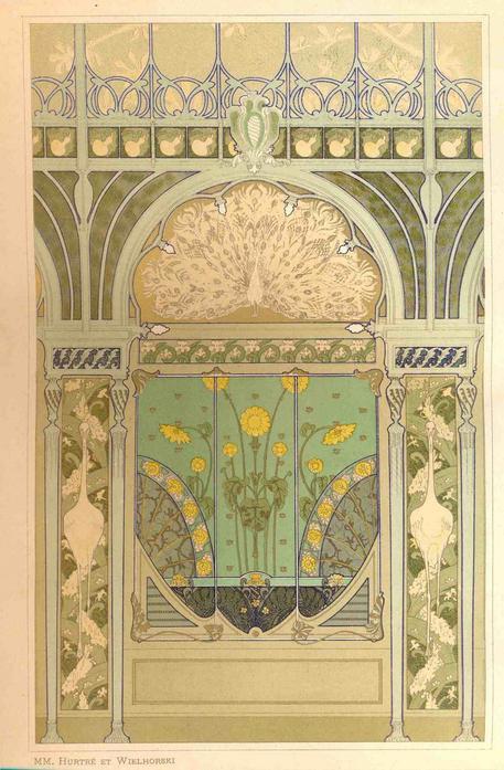 Scoperti affreschi Art Nouveau in una villa a Correggio