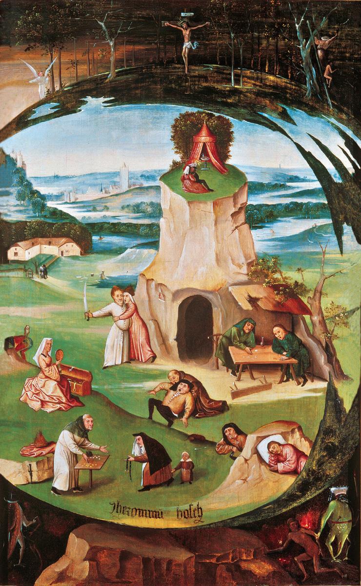 Hieronymus Bosch I sette peccato capitali, 1500 - 1515 Olio su tavola, 86,5 x 56 cm Ginevra, Geneva Fine Arts Foundation