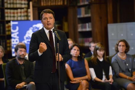 Matteo Renzi alla conferenza al Mibact con i nuovi 20 direttori museali