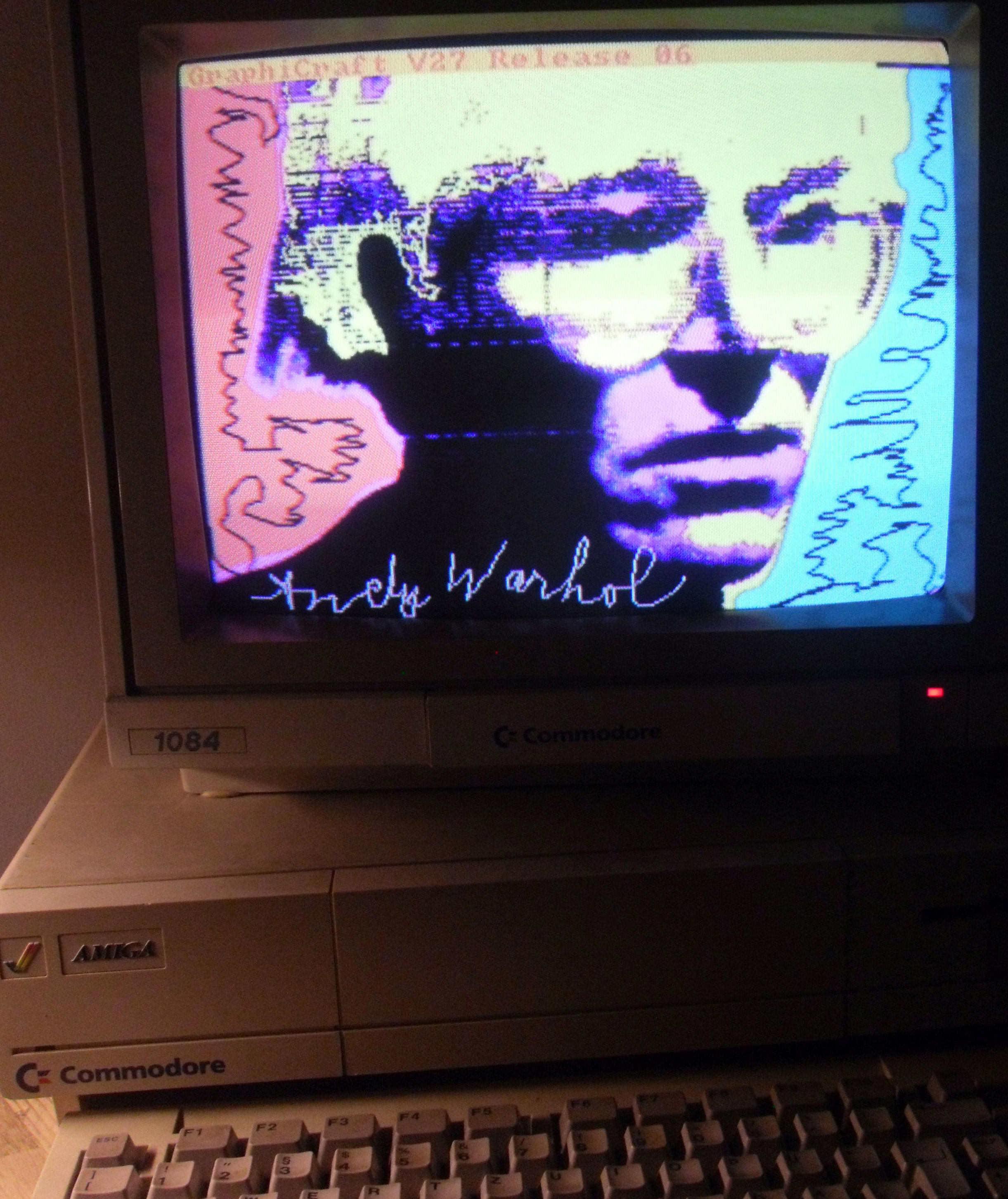 Warhol inedito: le prime sperimentazioni con Amiga