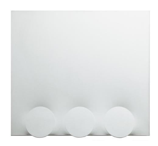 Turi Simeti, 3 tondi bianchi, 1988