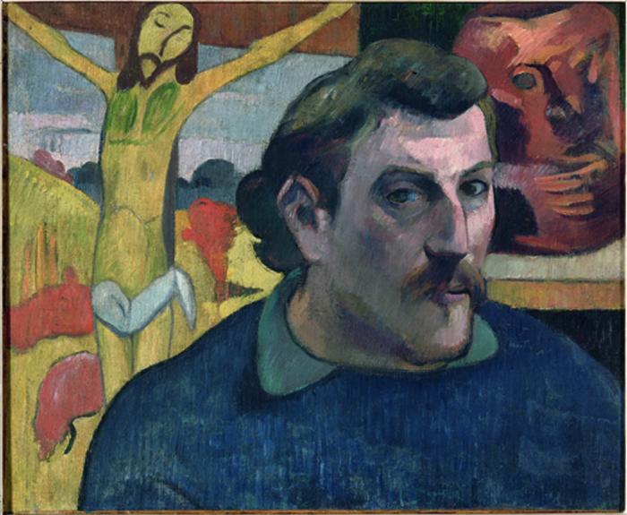Paul Gauguin Autoritratto con Cristo giallo, 1890-91 Olio su tela, cm 38 × 46 © RMN-Grand Palais (musée d'Orsay)/René-Gabriel Ojéda-Réunion des MuséesNationaux/distr. Alinari