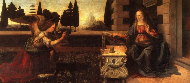 Leonardo, Annunciazione, Galleria degli Uffizi