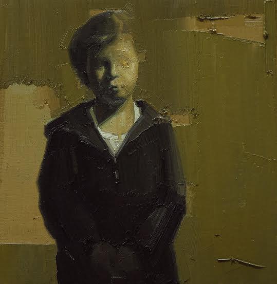 Martina, 2013, olio su tela, cm. 37,5x36,5