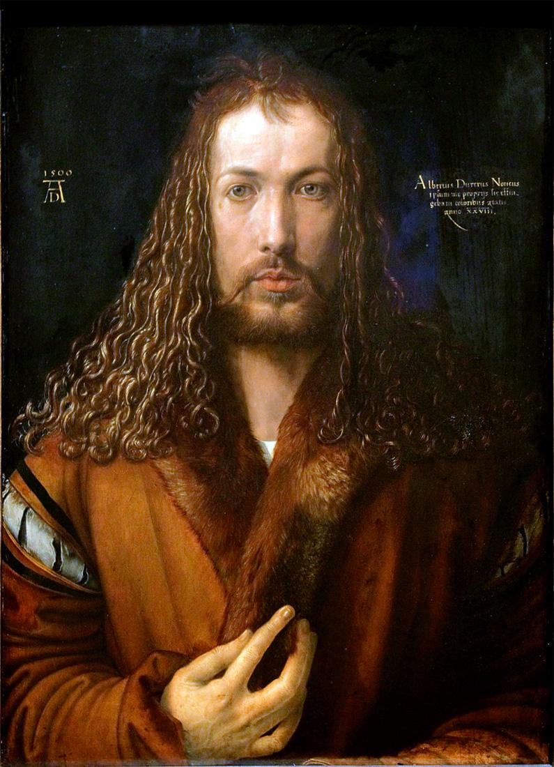 A. Dürer, Autoritratto con pelliccia, 1500 Alte Pinakothek, Monaco di Baviera