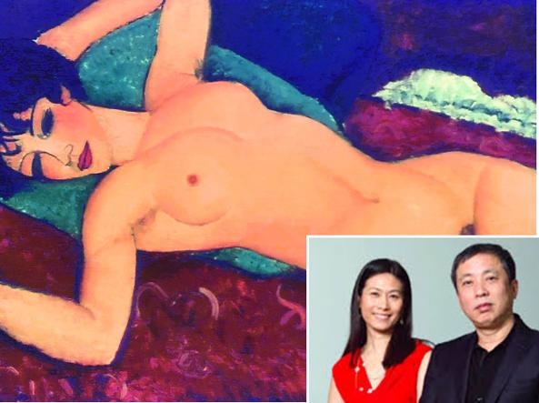 Liu Yiqian con la moglie e il suo Modigliani - ArtsLife